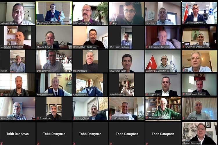 TOBB Sanayi Odaları Konseyi sanal ortamda ZOOM ile toplandı
